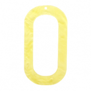 Resin pendants oblong oval 56x30mm Sunshine Yellow