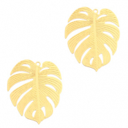 Bohemian charms tropical leaf Gold (nickel free)