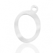 Stainless steel charms initial O Silver