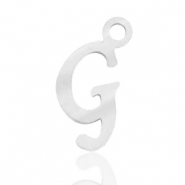 Stainless steel charms initial G Silver