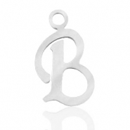 Stainless steel charms initial B Silver