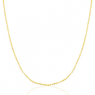 Stainless steel necklaces ball chain Mix&Match Gold