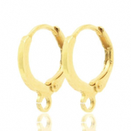 Earrings closable 1 loop 12mm Light Gold