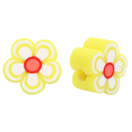Polymer beads flower yellow Yellow