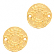 DQ metal settings round 2 loops for SS20 flatback Gold (nickel free)
