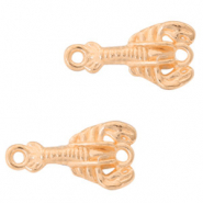 DQ European metal charms connector scorpion Rose Gold (nickel free)