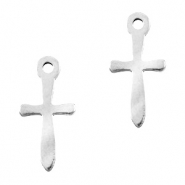Stainless steel charms cross Silver