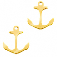 Stainless steel charms anchor Gold