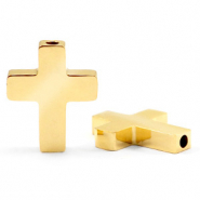 Stainless steel beads cross Gold