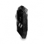 Aura Quartz crystal natural stone charm Black