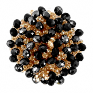 Clustered bead ornament Jet Black