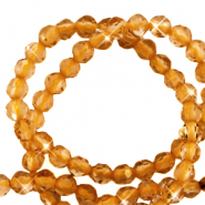 2 mm natural stone faceted beads crystal Amber Brown