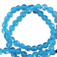 2 mm natural stone faceted beads crystal Aquamarine Blue