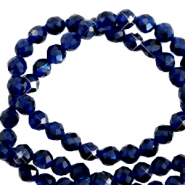 3 mm natural stone faceted beads crystal Dark Blue