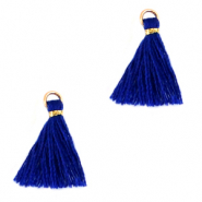 Tassels 1.5cm Gold-Princess Blue