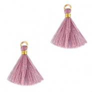 Tassels 1.5cm Gold-Light Mauve Purple