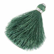 Tassels 6cm Limited edition Balsam Green-Silver