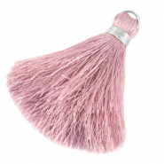 Tassels 6cm Limited edition Sweet Lilac Rose-Silver