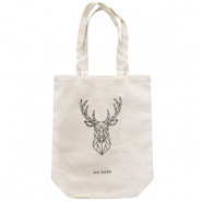"Fashion bag canvas ""oh deer"" Off White"