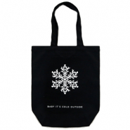 "Fashion bag canvas ""baby it's cold outside"" Black"
