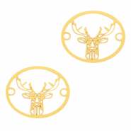 Bohemian connectors deer Gold