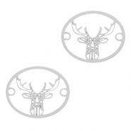 Bohemian connectors deer Silver