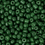 Glass seed beads 8/0 (3mm) Fir Green