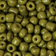 Glass seed beads 6/0 (4mm) Olive Green