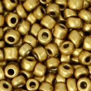 Glass seed beads 6/0 (4mm) Gold Metallic