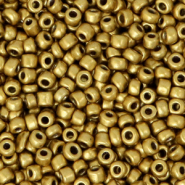 Glass seed beads 8/0 (3mm) Gold Metallic