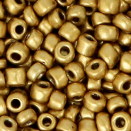Glass seed beads 6/0 (4mm) Antique Gold Metallic