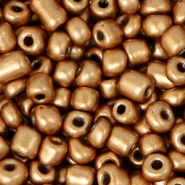 Glass seed beads 6/0 (4mm) Rose Gold Metallic