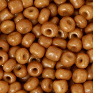 Glass seed beads 6/0 (4mm) Sugar Almond Brown