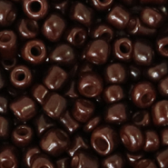 Glass seed beads 6/0 (4mm) Rocky Road Brown