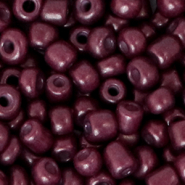 Glass seed beads 6/0 (4mm) Grape Purple