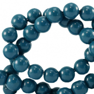 8 mm glass beads opaque Gibraltar Sea Blue