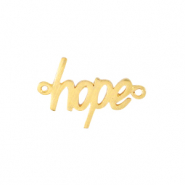 "DQ European metal charms connector ""hope"" Gold (nickel free)"