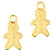 DQ European metal charms gingerbread man Gold (nickel free)
