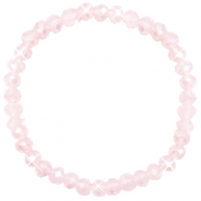 Top faceted bracelets 6x4mm Peach Pink Opal-Pearl Shine Coating