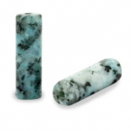 Natural stone beads tubes Turquoise Blue