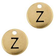 DQ European metal charms initial Z Antique Bronze (nickel free)