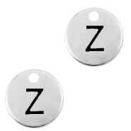 DQ European metal charms initial Z Antique Silver (nickel free)