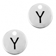 DQ European metal charms initial Y Antique Silver (nickel free)