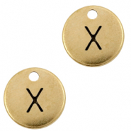 DQ European metal charms initial X Antique Bronze (nickel free)