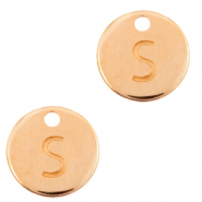 DQ European metal charms initial S Rose Gold (nickel free)