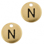 DQ European metal charms initial N Antique Bronze (nickel free)