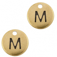 DQ European metal charms initial M Antique Bronze (nickel free)