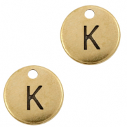 DQ European metal charms initial K Antique Bronze (nickel free)