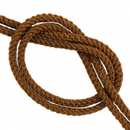 DQ trendy cord woven Chocolate Brown