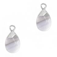 Natural stone charms Mirage Grey-Silver